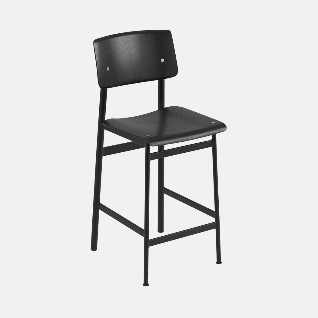 Loft Counter Stool, Black/Black
