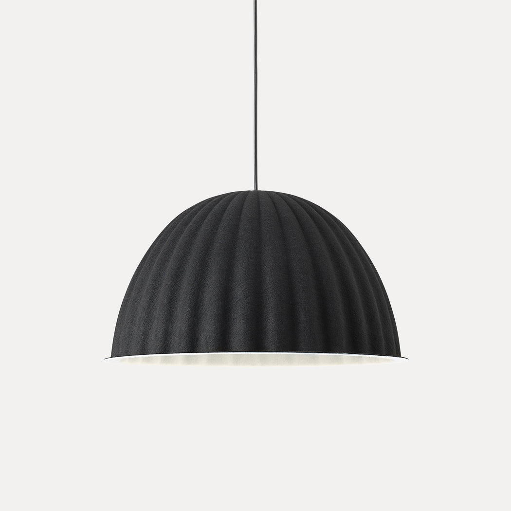 "Muuto Under The Bell Pendant Light, 21.7"", Black"
