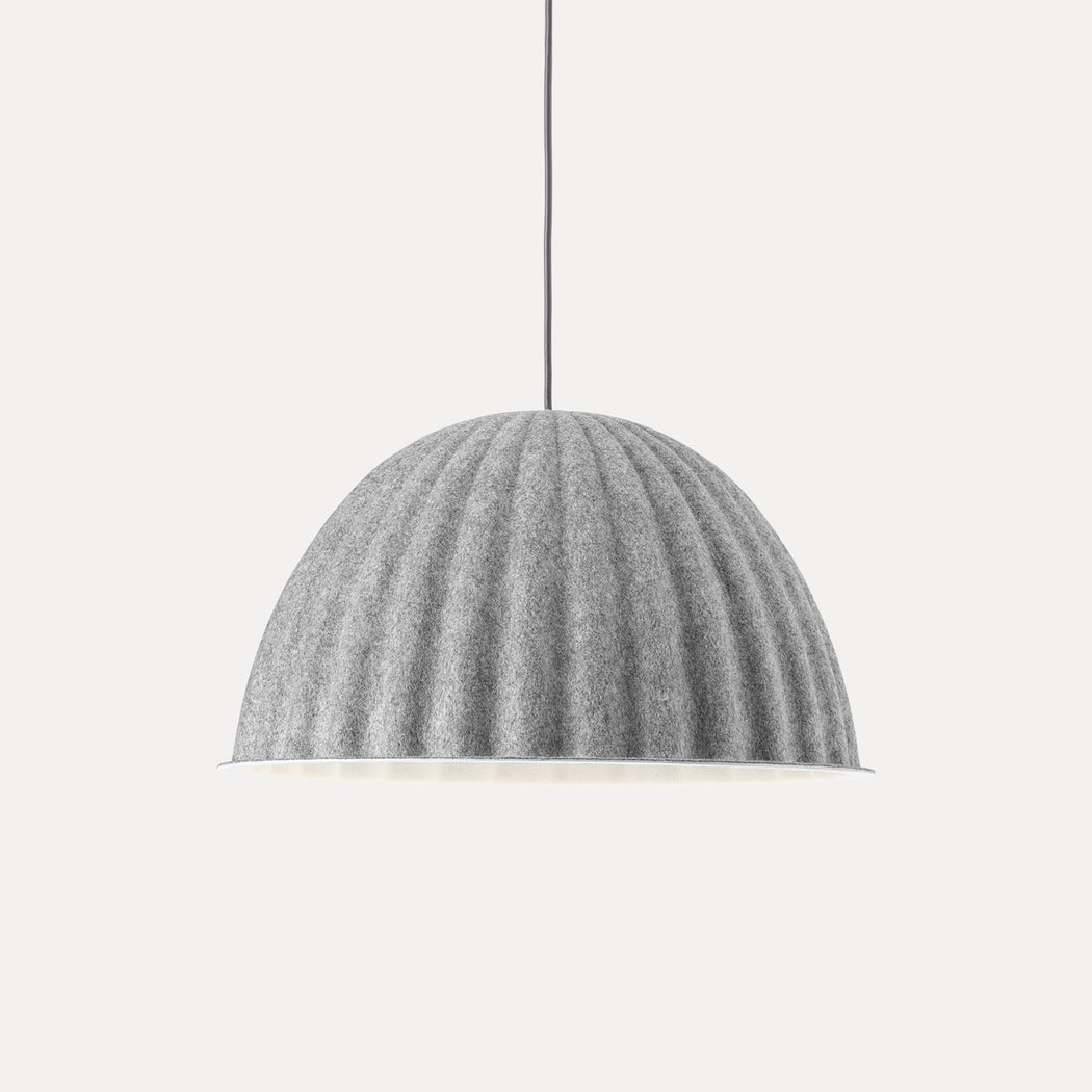 "Muuto Under The Bell Pendant Light, 21.7"", Grey"