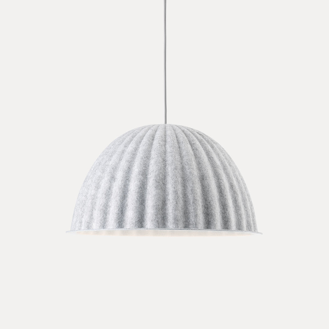 "Muuto Under The Bell Pendant Light, 21.7"", White Melange"