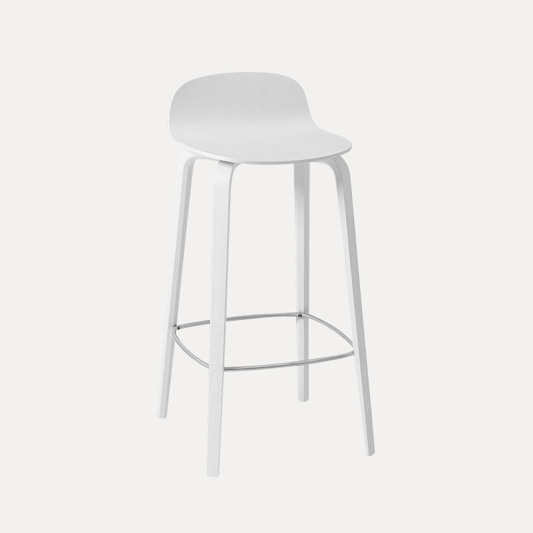 Visu Bar Stool, White