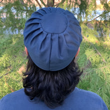 Pleated Kufi- Ocean Blue