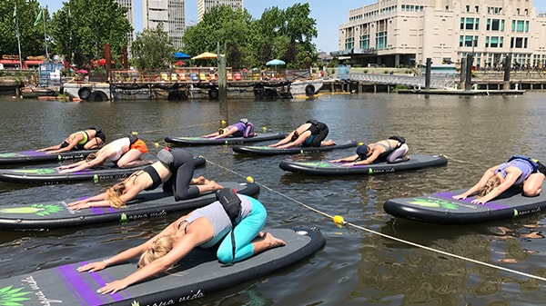 AquaFLOW Floating SUP Yoga Classes