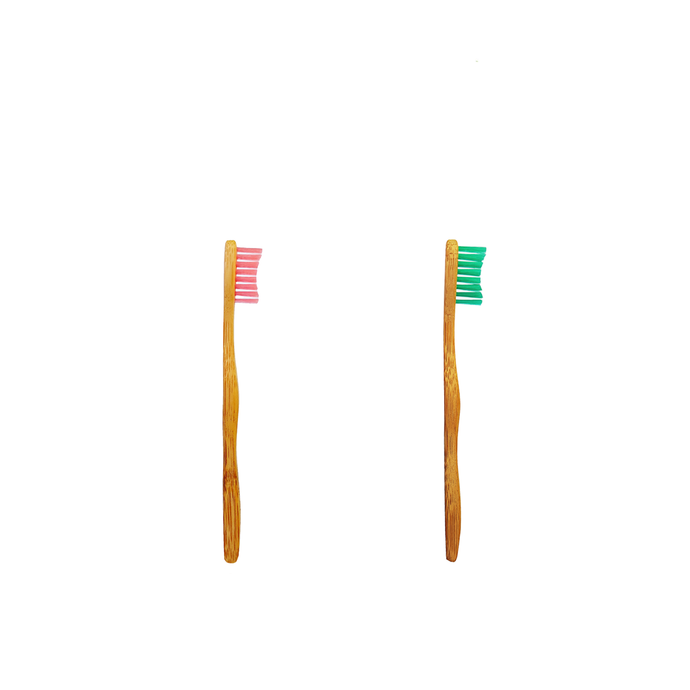 Bamkiki Biodegradable Bamboo Kids Toothbrush - Sakura or Minto (Ages 2 - 5)