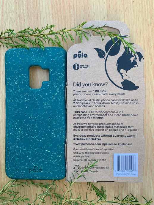 Green Samsung S9 Eco-Friendly Phone Case - (Free Packaging)