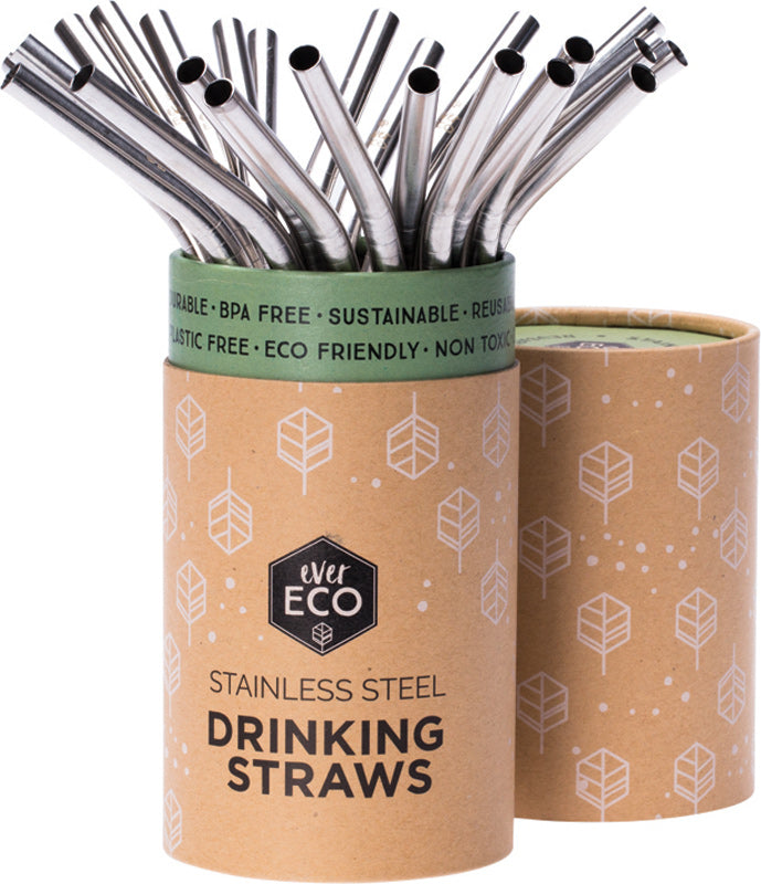 Ever Eco Stainless Steel Straws Bent - Each $4