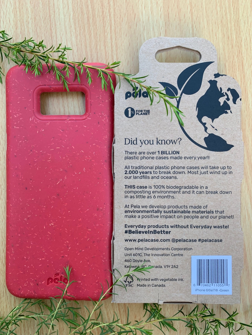Red Samsung S8+(Plus) Eco-Friendly Phone Case - (Packaging Free)