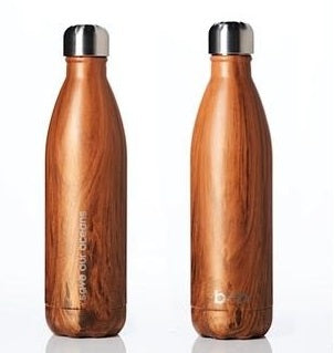 Insulated Stainless Steel Bottle 750ml - WOODGRAIN