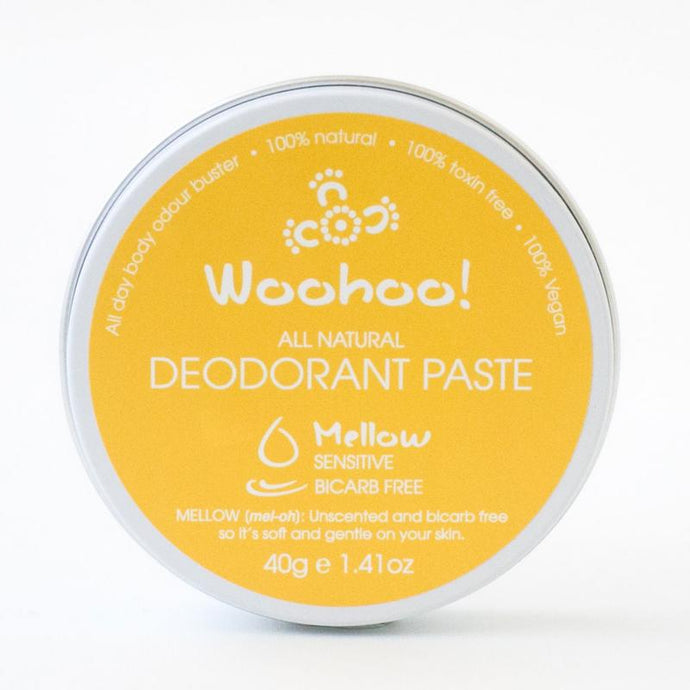 PLASTIC FREE - Woohoo All Natural Deodorant Paste 40g - Mellow