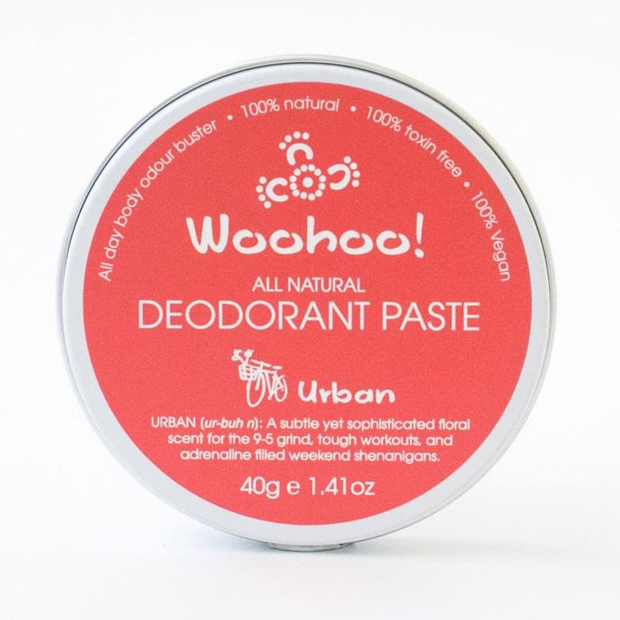 PLASTIC FREE - Woohoo All Natural Deodorant Paste 40g - Urban