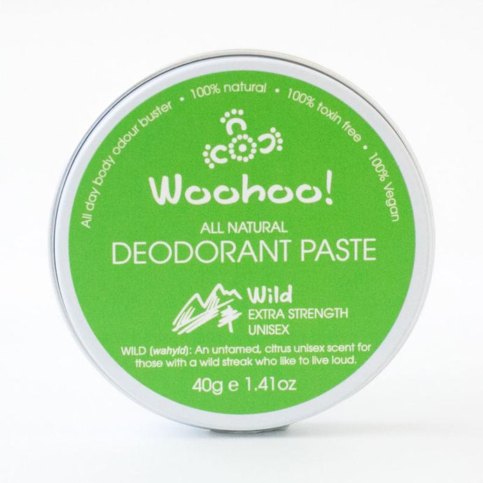 PLASTIC FREE - Woohoo All Natural Deodorant Paste 40g - Wild