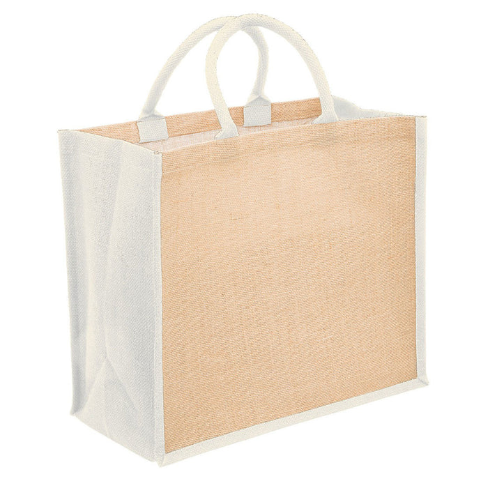 100% Natural Jute Shopping Bag - Cream