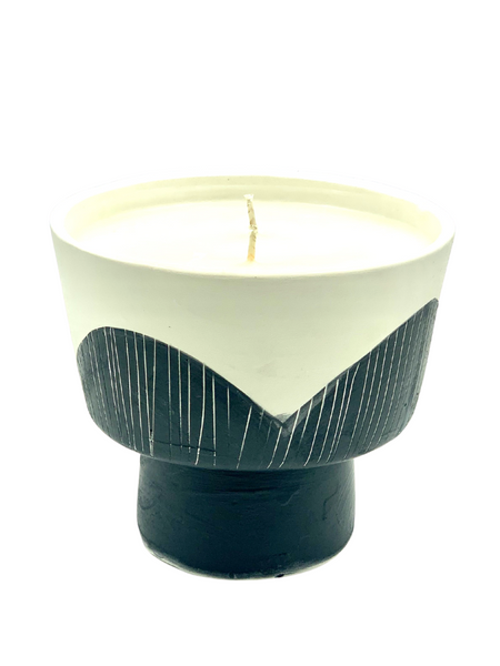 Handmade Ceramic Candles - Large Modern Bowl