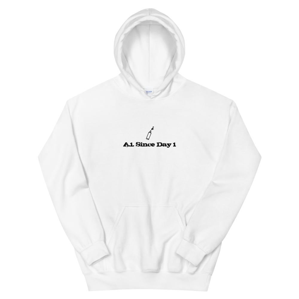 A.1. Since Day 1 Hooded Sweatshirt - White