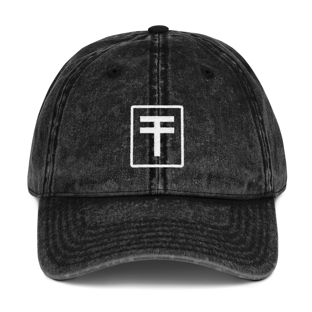 Vintage Swag Dad Hat - Black | TYPE Hats