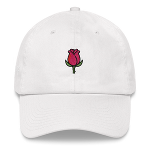 Rose Dad Hat - White | TYPE Hats