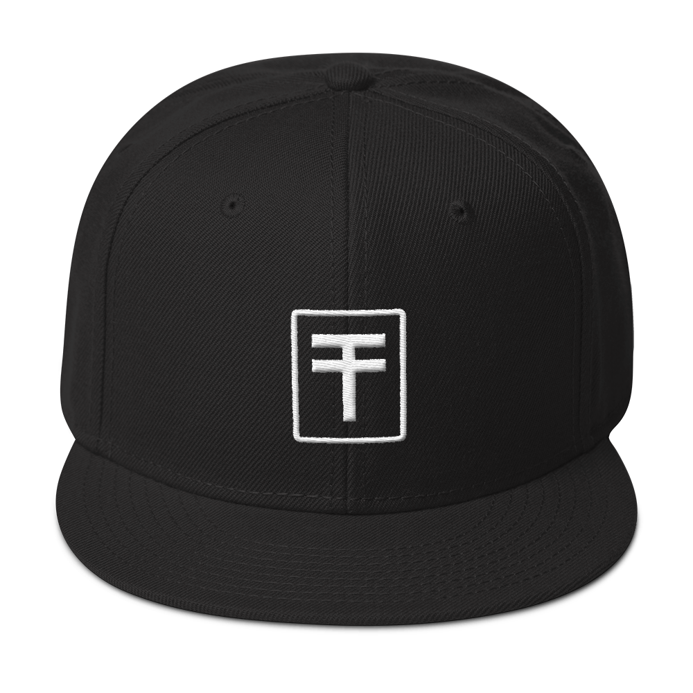 "TYPE ""T"" Snapback Hat - BLACK 