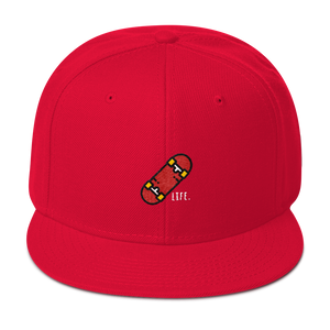 Skate Life Snapback Hat - Red | TYPE Hats
