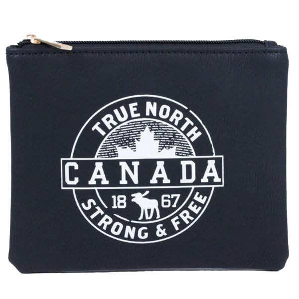 BLACK TRUE NORTH CANADA POUCH