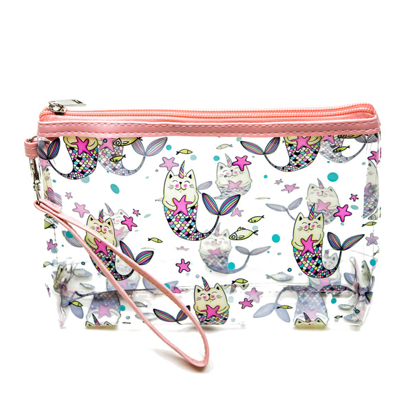 FUN CAT PRINT MAKE UP POUCH