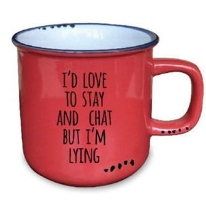 Stay & Chat - Ceramic Mug - Flamingo Boutique
