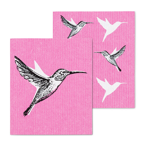 Hummingbird Dish Cloths. Set of 2 - Flamingo Boutique