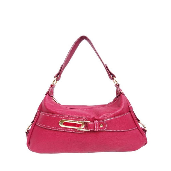 HANDBAG WITH BUCKLE - MAROON