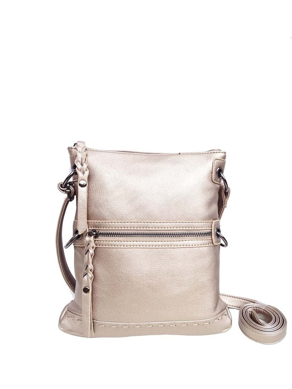 ZIP FRONT HANDBAG - Flamingo Boutique