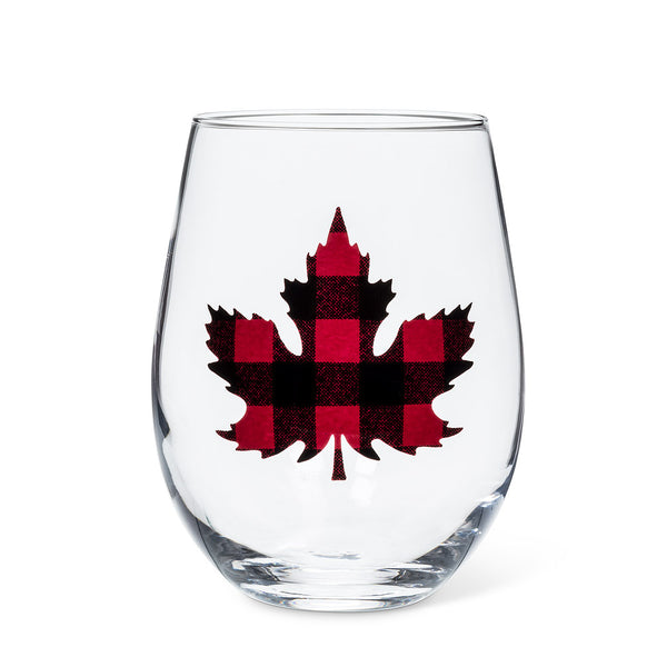 Maple Leaf Stemless Goblet