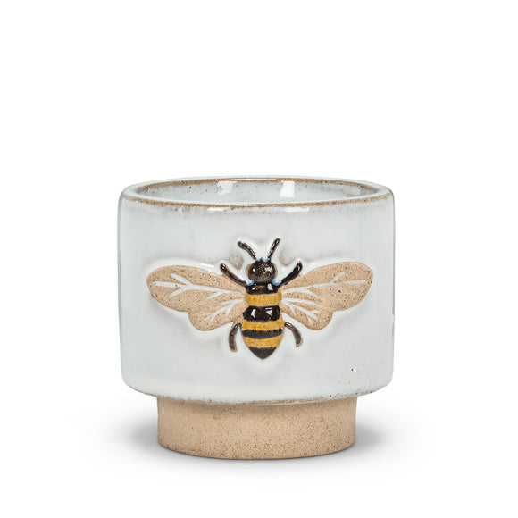 Small Embossed Bee Planter