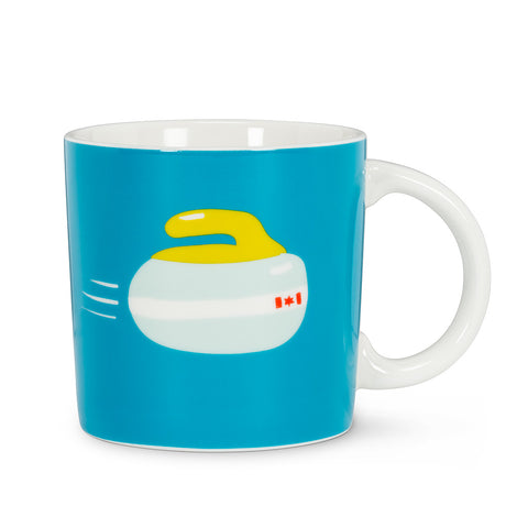 Curling Rock Mug - Flamingo Boutique