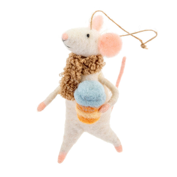 Cappuccino Caroline Felt Mouse - Flamingo Boutique