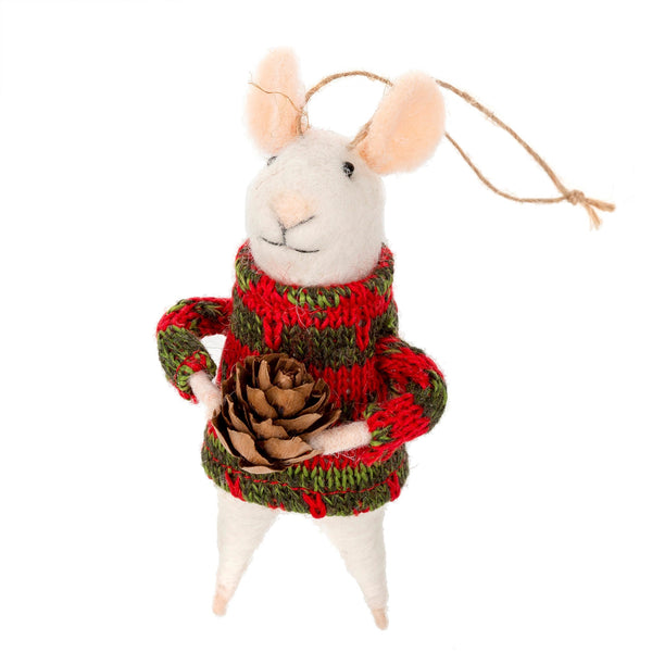 Sitka Solomon Mouse Felt Ornament