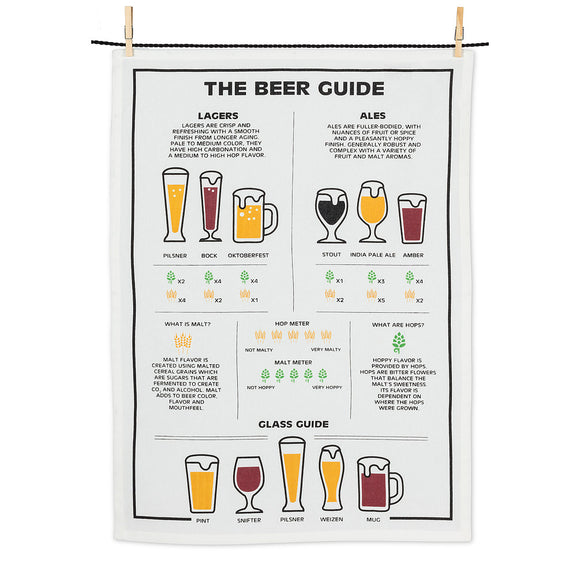 Beer Guide Tea Towel - Flamingo Boutique