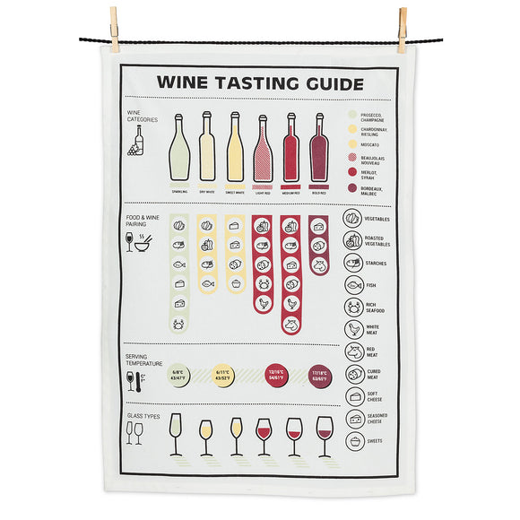 Wine Tasting Tea Towel - Flamingo Boutique