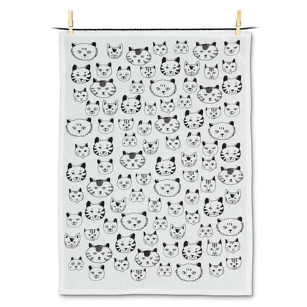 Cat Faces Tea Towel