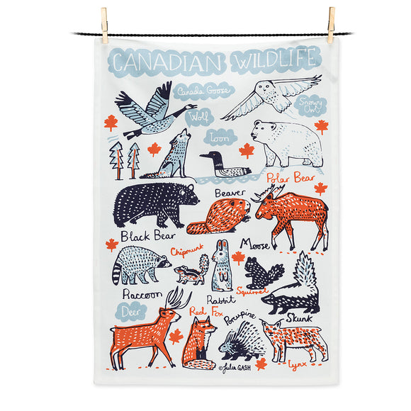 Canadian Wildlife Tea Towel - Flamingo Boutique