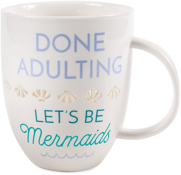 Done Adulting Porcelain Mug - Flamingo Boutique