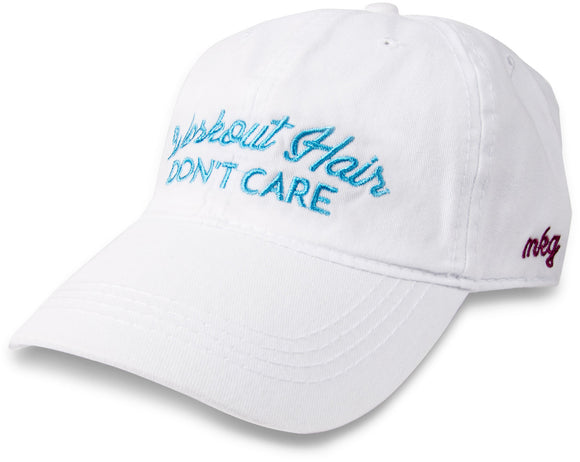 Workout Hair Don't Care Baseball Hat - Flamingo Boutique