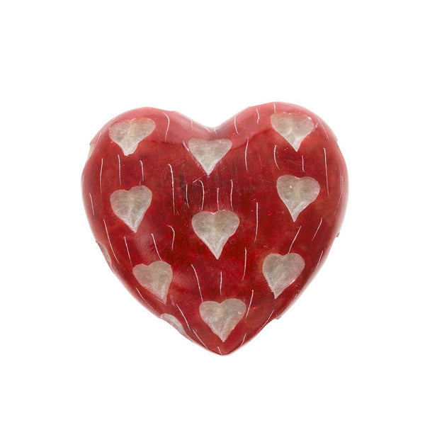 Red Soapstone Heart
