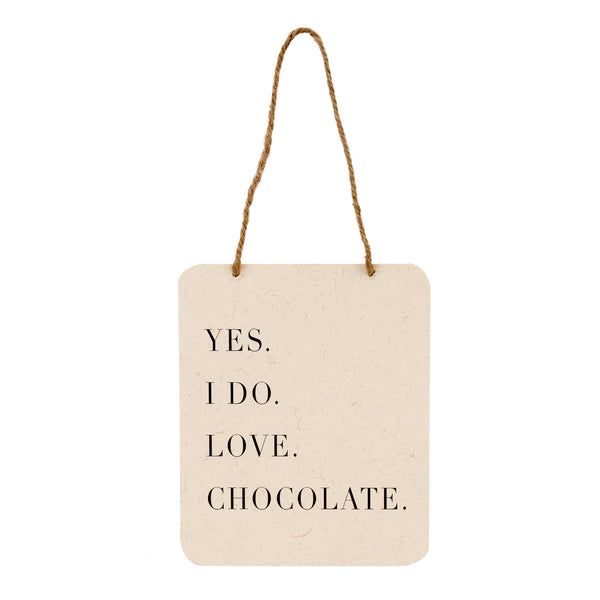 Love Chocolate Sign
