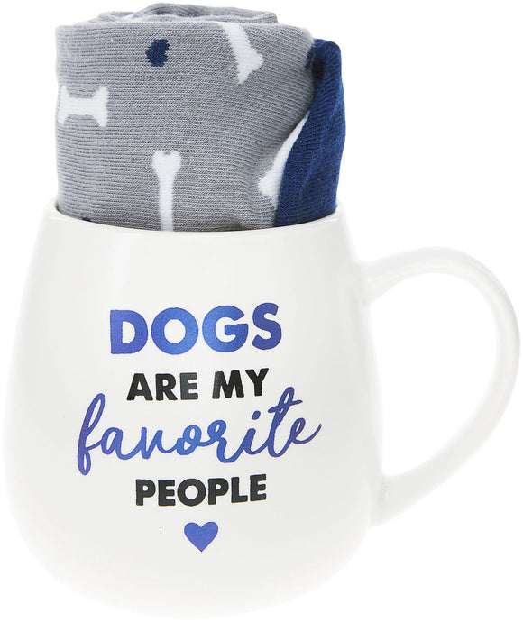 Dogs Are My Favourite People Mug and Sock Gift Set - Flamingo Boutique