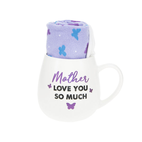 Mother Love You So Much Mug & Sock Gift Set