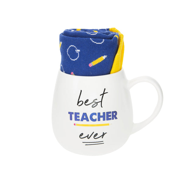 Best Teacher Mug and Sock Gift Set