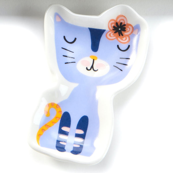 Cat With Flower Trinket Dish