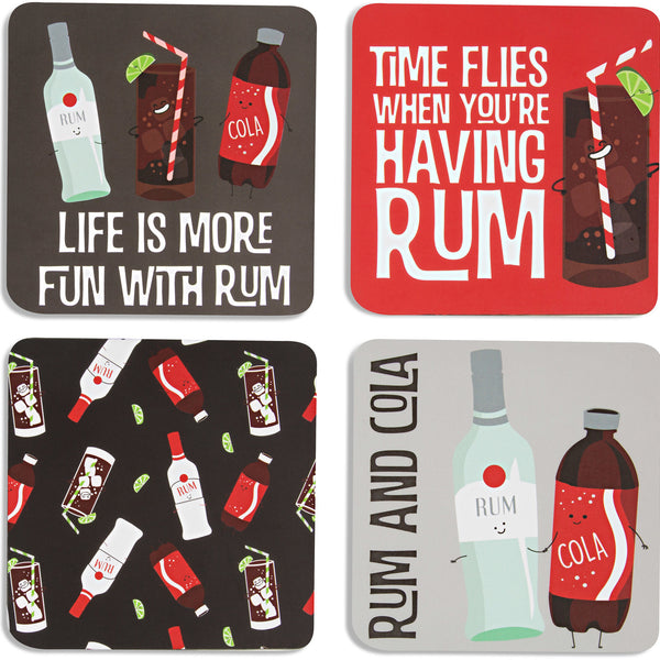 Rum & Cola Coasters - Flamingo Boutique