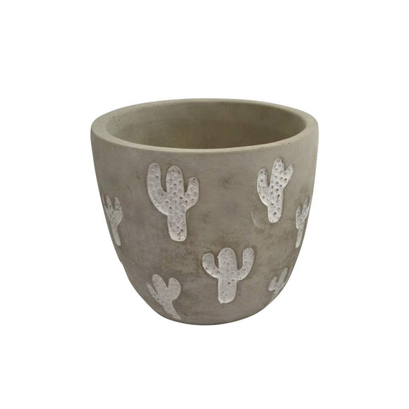 Plant Pot With Cactus - Medium - Flamingo Boutique