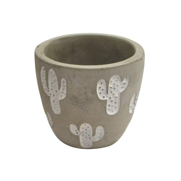 Plant Pot With Cactus - Small - Flamingo Boutique