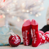 Love The Wine You're With Ornament With Holiday Socks - Flamingo Boutique