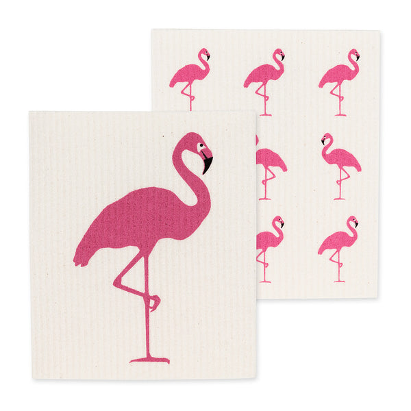 Flamingo Dish Cloths Set of 2 - Flamingo Boutique
